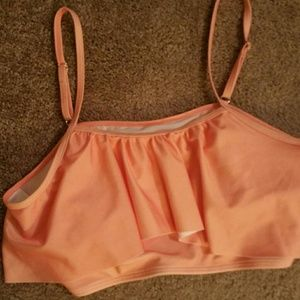 Xl peach bathing suit top NWOT